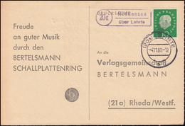 Landpost Röddensen über LEHRTE 4.11.1960 Auf Drucksache Nach Rheda/Westf. - BRD