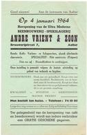 Pub Reclame - Heropening Beenhouwerij Andre Vrient & Zoon - Aalter - 1964 - Publicités
