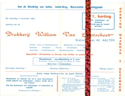 Pub Reclame - Opening Drukkerij William Van Landschoot - Aalter - 1963 - Publicités