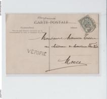 TP 53 Armories S/CP Fantaisie -  C.Eernegem 7/6/1907 + Griffe VERIFIE - 1893-1907 Coat Of Arms