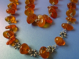 Vintage Jewelry Honey Cognac Natural Baltic Amber Gems Necklace Beads 39g #8m - Necklaces/Chains