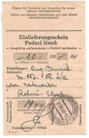 R40 - KZ NATZWEILER STRUTHOF - Récépissé De Mandat De Versement De 10 Marks - Camp Concentration NATZWILLER STRUTHOF - - Marcophilie (Lettres)