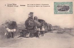 ENTIER POSTAL CPA Congo Belge / Belgische Congo  - Katanga - Sur La Ligne De Sakania à Elisabethville - Train à Vapeur - Entiers Postaux