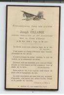 MILITARIA AVIS DECES 1916 SERGENT MITRAILLEUR 112 INFANTERIE MORT AU CHAMP HONNEUR TBE - 1914-18