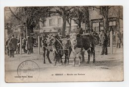 - CPA BERNAY (27) - Marché Aux Bestiaux 1918 (belle Animation) - Collection Walter - - Bernay