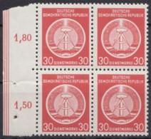 Mi-Nr. 11, Rand-4er Block, ** - Service
