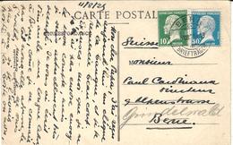 1925- C P A De Versailles  Pour BERN ( Suisse ) - Affr. Pasteur 10 Et 50 C Oblit.  BERN - Storia Postale