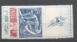 1949 Czechoslovakia MNH - Mi 575-577 Zf Yv 501-503 ** MNH - Tschechoslowakei/CSSR