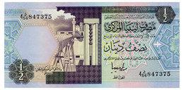 LIBYA LIBYA 1/2 DINAR ND(1991) Pick 58c Unc - Libya
