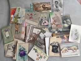 Lot De 150 Cartes Fantaisie - Belles Cartes Et Très Bonne Qualité - Femmes, Fleurs, Animaux, Illustrations...Lot N° 3 - Cartes Postales