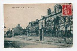 - CPA BEUZEVILLE (27) - Rue Epaigne 1933 - Edition Menlen - - France