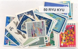 OFFER   Lot Stamp  Ryu Kyu 50 Sellos Diferentes  (mixed Condition) - Sellos