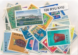 OFFER   Lot Stamp  Ryu Kyu 100 Sellos Diferentes  (mixed Condition) - Sellos