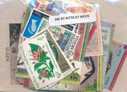 OFFER   Lot Stamp  San Kitts 200 Sellos Diferentes Incluye Nevis  (mixed Condi - Sellos