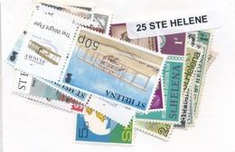 OFFER   Lot Stamp  Santa Helena 25 Sellos Diferentes  (mixed Condition) - Sellos