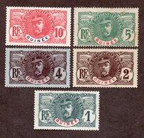 Guinée N°33 à 37 N* TB Cote 38 Euros !!! - Unused Stamps