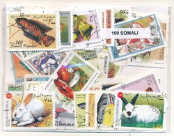 OFFER   Lot Stamp  Somalia 100 Sellos Diferentes  (mixed Condition) - Sellos
