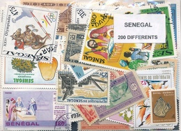 OFFER   Lot Stamp  Senegal 200 Sellos Diferentes  (mixed Condition) - Sellos
