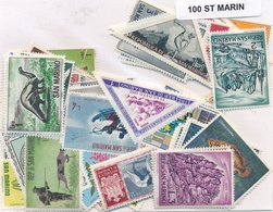OFFER   Lot Stamp  San Marino 100 Sellos Diferentes   (mixed Condition) - Sellos
