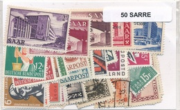 OFFER   Lot Stamp  Sarre 50 Sellos Diferentes  (mixed Condition) - Sellos