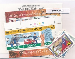 OFFER   Lot Stamp  Samoa 50 Sellos Diferentes  (mixed Condition) - Sellos