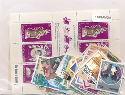 OFFER   Lot Stamp  Samoa 100 Sellos Diferentes  (mixed Condition) - Sellos