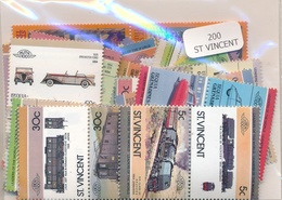 OFFER   Lot Stamp  San Vicente 200 Sellos Diferentes  (mixed Condition) - Sellos