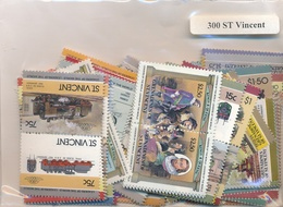 OFFER   Lot Stamp  San Vicente 300 Sellos Diferentes  (mixed Condition) - Sellos