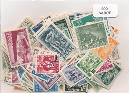 OFFER   Lot Stamp  Sarre 200 Sellos Diferentes  (mixed Condition) - Sellos