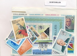 OFFER   Lot Stamp  Seychelles 50 Sellos Diferentes  (mixed Condition) - Sellos