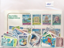 OFFER   Lot Stamp  Seychelles 100 Sellos Diferentes  (mixed Condition) - Sellos