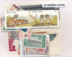 OFFER   Lot Stamp  Sierra Leona 50 Sellos Diferentes  (mixed Condition) - Sellos