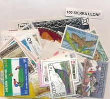 OFFER   Lot Stamp  Sierra Leona 100 Sellos Diferentes  (mixed Condition) - Sellos