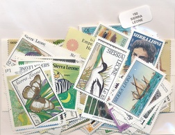 OFFER   Lot Stamp  Sierra Leona 150 Sellos Diferentes  (mixed Condition) - Sellos