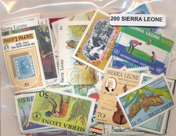 OFFER   Lot Stamp  Sierra Leona 200 Sellos Diferentes  (mixed Condition) - Sellos