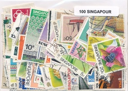 OFFER   Lot Stamp  Singapore 100 Sellos Diferentes  (mixed Condition) - Sellos