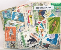 OFFER   Lot Stamp  Singapore 200 Sellos Diferentes  (mixed Condition) - Sellos