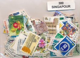 OFFER   Lot Stamp  Singapore 300 Sellos Diferentes  (mixed Condition) - Sellos