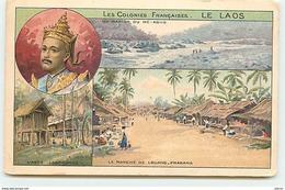 Colonies Françaises LE LAOS - Un Rapide Du Mé-Kong - Le Marché De Louang-Prabang ... - Laos