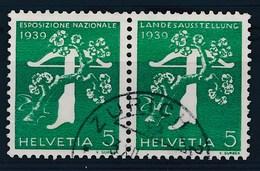 HELVETIA - Mi Nr W 11: 352/344 - Gest./obl. - Cote 11,00 € - Se-Tenant
