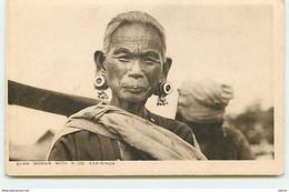 MYANMAR - Shan Woman With 6 Oz Ear-Rings - Myanmar (Burma)