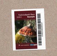 BRD - Privatpost -  Biberpost   - Nationalpark Harz - Baumpilz - Zunderschwamm (Fomes) - Pilze