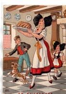Illustrateur : Jean Paris : Barre-Dayez 1420 F   Recette  : Le Kugelhoff - Illustrators & Photographers