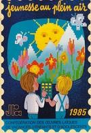 Jeunesse En Plein Air Autocollant 1985 Illustrateur V Moran L Kouper - France
