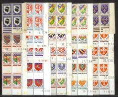 LOT DE 24 COINS DATES TYPE BLASONS DIFFERENTS ** - 1940-1949
