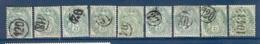 LOT DE 9 TYPE BLANC OBLITERES JOUR DE L'AN DIFFERENTS - Storia Postale (Francobolli Sciolti)