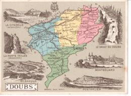 Librairie Hachette  Carte Des Départements :  Doubs - Chromos