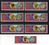 UMM AL QIWAIN - Giochi Olimpici Monaco 1972 - 7 Valori - Usati - (FDC18663) - Umm Al-Qiwain