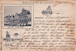 274744Groningen, Groote Markt 1899(zie Hoeken En Randen - Groningen
