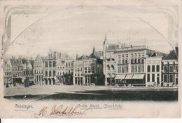 274745Groningen, Grootemarkt Noordzijde 1901 (zie Rechts Boven) - Groningen